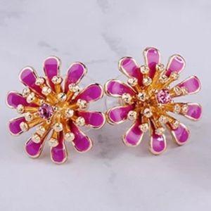 Crystal Blooming Flower Earrings